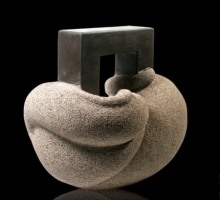 Cat 17 | Sculpture by artist Prashant Bangal | Basalt Stone