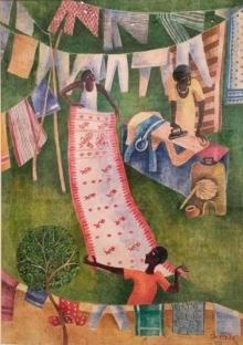 Figurative Watercolor Art Painting title 'Dhobi' by artist Arpita Basu