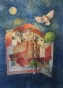 Arpita Basu | Watercolor Painting title Lakhsmi on Paper | Artist Arpita Basu Gallery | ArtZolo.com