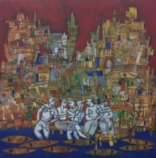 Untitled 2 | Painting by artist Biswajit Mondal | acrylic | Canvas
