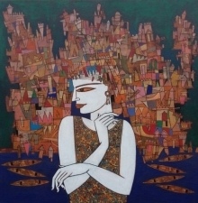 Untitled 3 | Painting by artist Biswajit Mondal | acrylic | Canvas