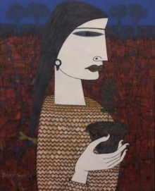 Untitled 6 | Painting by artist Biswajit Mondal | acrylic | Canvas