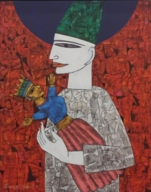 Untitled 7 | Painting by artist Biswajit Mondal | acrylic | Canvas