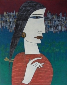 Untitled 8 | Painting by artist Biswajit Mondal | acrylic | Canvas