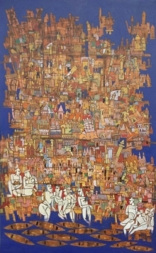 Untitled 9 | Painting by artist Biswajit Mondal | acrylic | Canvas