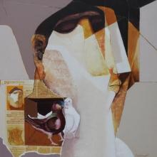 contemporary Acrylic Art Painting title Swayvedan 101 by artist Lakshman Chavan