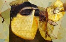 contemporary Acrylic Art Painting title Swayvedan 102 by artist Lakshman Chavan