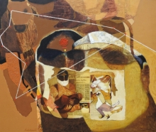 contemporary Acrylic Art Painting title Swayvedan 106 by artist Lakshman Chavan