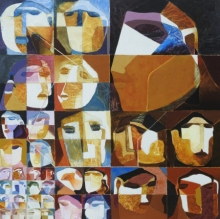 contemporary Acrylic Art Painting title Swayvedan 108 by artist Lakshman Chavan
