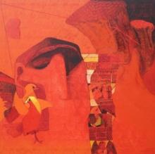 contemporary Acrylic Art Painting title Swayvedan 133 by artist Lakshman Chavan