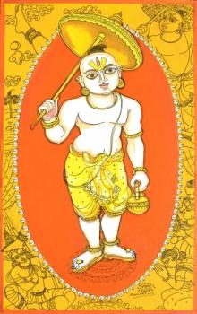 Religious Acrylic-pen Art Painting title 'Krishna Avatar From Dashavtaar Series 5' by artist Manisha Srivastava