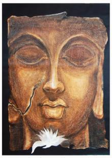Religious Oil Art Painting title 'The Face Ii' by artist Manoj Muneshwar