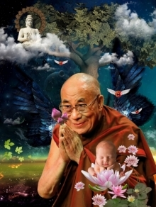 Holy Soul Dalai Lama Painting | Digital_art by artist Rakesh Chaudhary | Art print on Canvas