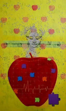 contemporary Acrylic Art Painting title 'Healthy' by artist Ns Art