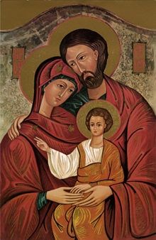 Religious Acrylic Art Painting title 'Holy Family 3' by artist Ns Art