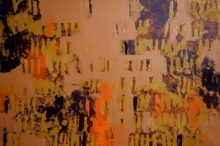Ns Art | Acrylic Painting title Ochre Patterns on Canvas | Artist Ns Art Gallery | ArtZolo.com