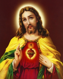 Ns Art | Acrylic Painting title Sacred Heart 15 on Canvas | Artist Ns Art Gallery | ArtZolo.com