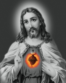 Ns Art | Acrylic Painting title Sacred Heart 20 on Canvas | Artist Ns Art Gallery | ArtZolo.com