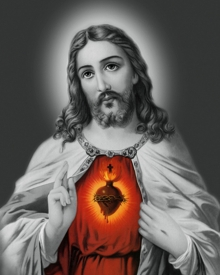 Ns Art | Acrylic Painting title Sacred Heart 22 on Canvas | Artist Ns Art Gallery | ArtZolo.com