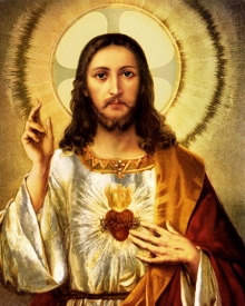 Ns Art | Acrylic Painting title Sacred Heart Jesus Christ 2 on Canvas | Artist Ns Art Gallery | ArtZolo.com