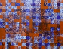 Ns Art | Acrylic Painting title Square Pattern 1 on Canvas | Artist Ns Art Gallery | ArtZolo.com