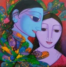 Figurative Acrylic Art Painting title 'Untitled 1' by artist Prakash Deshmukh