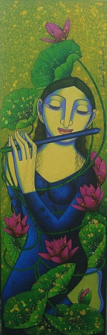 Figurative Acrylic Art Painting title 'Untitled 2' by artist Prakash Deshmukh