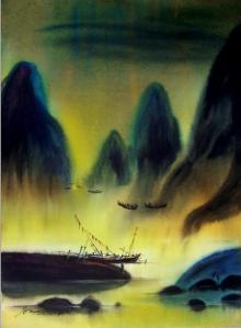 Nature Acrylic Art Painting title Untitled by artist Soumen Saha