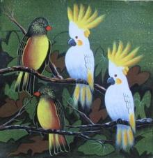 Birds 4 | Painting by artist Pradeep Swain | acrylic | Canvas