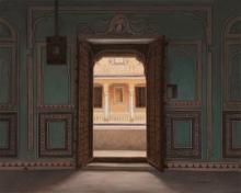 Gopal Khetanchi | Oil Painting title Rang Mahal on Canvas | Artist Gopal Khetanchi Gallery | ArtZolo.com