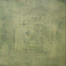 Mohit Bhatia Paintings | Abstract Painting - Solid Green Abstract I by artist Mohit Bhatia | ArtZolo.com