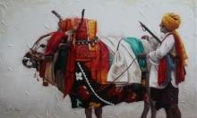 Iruvan Karunakaran | Acrylic Painting title Gangireddu 1 on Canvas | Artist Iruvan Karunakaran Gallery | ArtZolo.com
