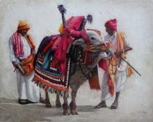 Iruvan Karunakaran | Acrylic Painting title Gangireddu 2 on Canvas | Artist Iruvan Karunakaran Gallery | ArtZolo.com