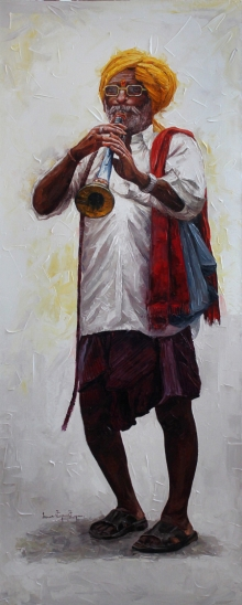 Old Man 2 | Painting by artist Iruvan Karunakaran | acrylic | Canvas