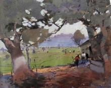 art, painting, acrylic, canvas, landscape