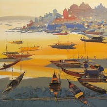 Seascape Acrylic Art Painting title Untitled 3 by artist Hari Dhongade