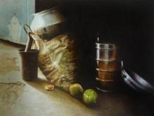 Raghunath Sahoo | Watercolor Painting title Still Life 3 on Paper | Artist Raghunath Sahoo Gallery | ArtZolo.com