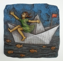 Shashikant Charbe | Dream Journey Mixed media by artist Shashikant Charbe on Fiberglass On Board | ArtZolo.com