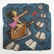 Shashikant Charbe | Freedom Of Education Mixed media by artist Shashikant Charbe on Fiberglass On Board | ArtZolo.com