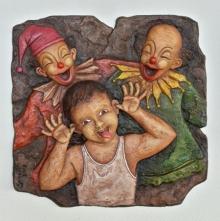 Shashikant Charbe | Untitled 2 Mixed media by artist Shashikant Charbe on Fiberglass On Board | ArtZolo.com