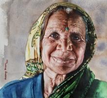 old lady portrait realism