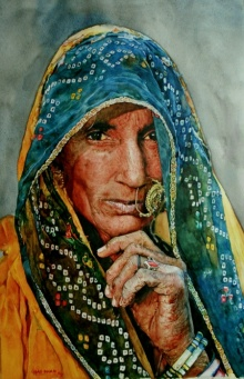Veil Of A Softer Light | Painting by artist Dr.uday Bhan | watercolor | Paper