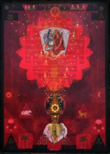 Religious Tempera Art Painting title Pranam by artist Atin Mitra