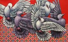 art, painting, oil, canvas, animal, bird