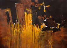Abstract Acrylic Art Painting title 'Untitled 1' by artist Sagar Bondre