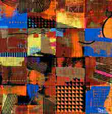 Abstract Acrylic Art Painting title 'Urban Scape I' by artist Prabhinder Lall