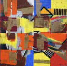 Abstract Acrylic Art Painting title 'My City' by artist Prabhinder Lall
