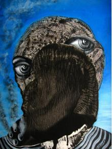 Fantasy Acrylic Art Painting title 'Survivor' by artist Mithun Dasgupta