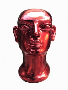 Fiberglass Sculpture titled 'Head 1' by artist Shivarama Chary Y