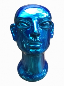 Fiberglass Sculpture titled 'Head 2' by artist Shivarama Chary Y